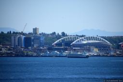 Centurylink Field and Elliott Bay in Seattle