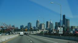 Downtown Seattle View from Freeway