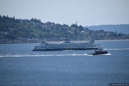 Ferry off the coast of Seattle